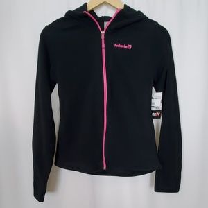 Avalanche Girls Black Full Zip Fleece Jacket